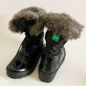 Cougar Kids Winter Black Boots SZ 2